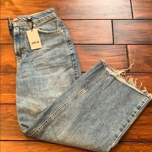 Brand new cropped flared jeans.